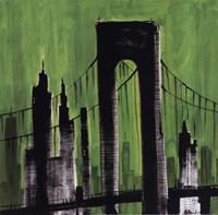 Green Cityscape Fine-Art Print