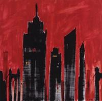 Red Cityscape Fine-Art Print