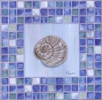 Mosaic Moonshell - mini Fine-Art Print