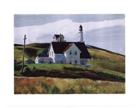Hill and Houses, Cape Elizabeth, Maine, 1927 Fine-Art Print