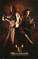 Pirates of the Caribbean - Jack and Will Wall Poster