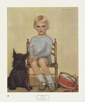 Boy with Dog Fine-Art Print