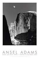 Moon And Half Dome Fine-Art Print
