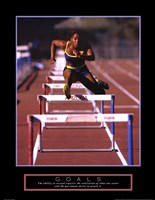 Goals - Runner Jumping Hurdles Fine-Art Print