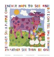 Purple Cow Fine-Art Print