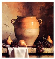 Confit Jar with Pears & Grapes Fine-Art Print