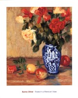 Roses in a Mexican Vase Fine-Art Print