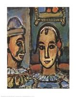 Heads of Two Clowns Fine-Art Print