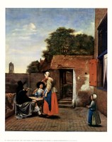 Dutch Courtyard Fine-Art Print
