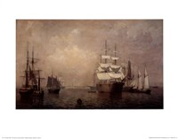 Merchantmen Off Boston Harbor Fine-Art Print