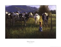 Anniken and the Cows Fine-Art Print