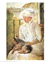 Woman with Dog Fine-Art Print