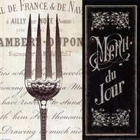 French Menu II Fine-Art Print
