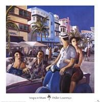 Vespa in Miami Fine-Art Print