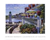 Lighthouse At Sauzon Fine-Art Print