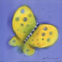 Butterfly On Light Blue Fine-Art Print