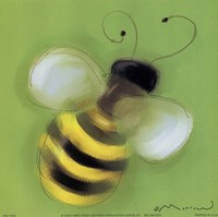 Bee On Green Fine-Art Print