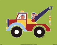 Bears in Tow Truck Fine-Art Print