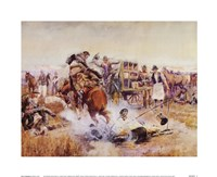 Bronc To Breakfast Fine-Art Print