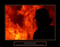 Courage - Fireman Fine-Art Print