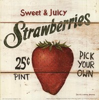 Sweet and Juicy Strawberries Fine-Art Print