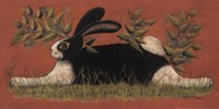 Red Folk Bunny Fine-Art Print