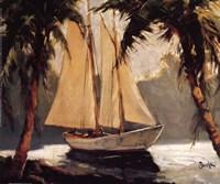 Sailboat, Santa Barbara Fine-Art Print