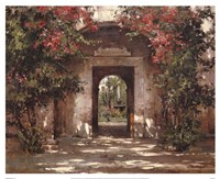 Flowered Doorway Fine-Art Print