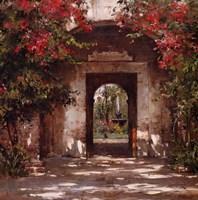 Flowered Doorway Fine-Art Print