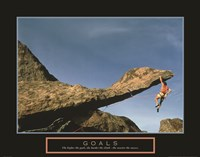 Goals - Rock Climber Fine-Art Print
