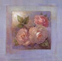 Roses on Blue II Fine-Art Print