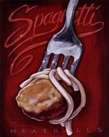 Spaghetti Meatballs Fine-Art Print