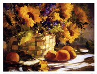 Sunflowers With Purple Fine-Art Print