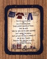 Mom's Laundry Rules Fine-Art Print