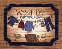 Wash Day - clothes line Fine-Art Print