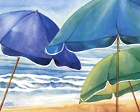 Seaside Umbrellas Fine-Art Print