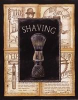 Grooming Shaving Framed Print