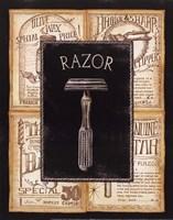 Grooming Razor Framed Print