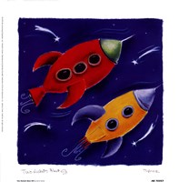 Two Rockets Blast Off Fine-Art Print