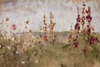 Hollyhocks by the Sea Fine-Art Print