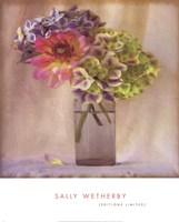 Dahlia With Hydrangeas II Fine-Art Print
