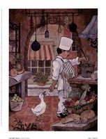 Chef With Goose Fine-Art Print