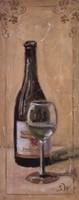 White Wine With Glass Fine-Art Print