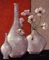 Silverleaf And Poppies I Fine-Art Print