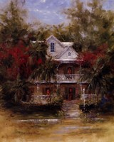 Keywest Cottage II Fine-Art Print