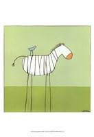 Stick-Leg Zebra I Fine-Art Print