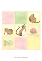 Tic-Tac Cats In Pink Fine-Art Print