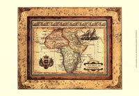 Crackled Map Of Africa Fine-Art Print