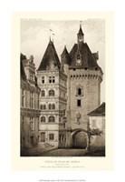 Small Sepia Chateaux VI Fine-Art Print