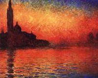 San Giorgio Maggiore at Twilight (Dusk in Venice), c.1908 Fine-Art Print